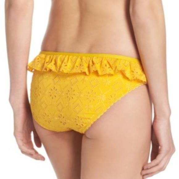 kate spade Other - Kate Spade Yellow Lace Ruffle Bikini Bottoms